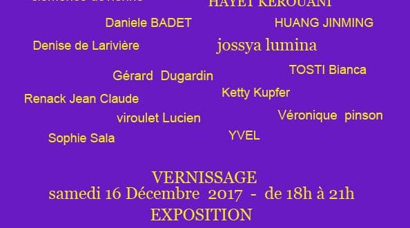 INVITATION Exposition collective à l'International Art Gallery